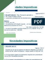 Novedades Impositivas Marzo-11