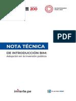 Nota Tecnica de Introduccion Bim_adopción en La Inversión Pública