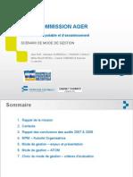 Audit sur les scenarios de gestion de l'eau à MPM (juillet 2010)