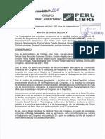 Perú Libre pide censurar a Mesa Directiva de María del Carmen Alva.