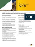 TRACTOR ORUGAS CAT D7