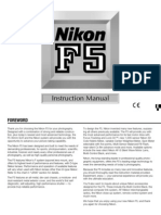 Nikon F5 Instruction Manual