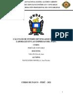 Cálculos de Interés Devengados en Casos Laborales en Las Empresas Del Perú - Manzanedo Bonilla, Jean Fischer