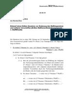 Bundesrat 20 09 19 WaffG Änderungen 363-19(B)