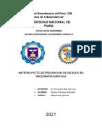 TALLER 4 ANTE PROYECTO DE SEGUIRDAD DE LAS MAQUINAS AGRICOLAS JHONATAN RAMOS CHIROQUE