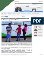Encontro virtual discute mobilidade sustentável, inclusiva e segura dos idosos
