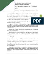 Manual de m.k.p - Historial Do Marketing e Publicidade e Conceitos Para o Centro Naelpri