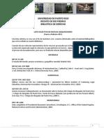 Lista Nuevas Adquisiciones Enero a Febrero 2011