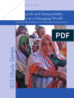 Safeguards and Sustainability Policies in a Changing World - An Independent Evalaution of World Bank Group Experience