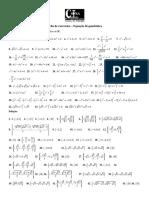Ficha de exercícios - Equação bi-quadrática