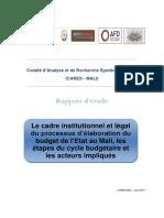 Rapport Recherche Budget Etat Mali