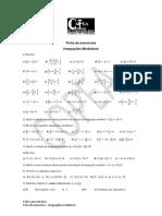Ficha de exercícios - Inequações modulares