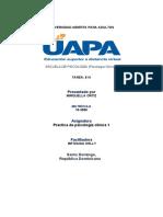TAREA IV PRACTICA DE PSICOLIGIA CLINICA 1