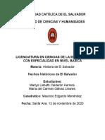 Hechos Historicos El Salvador