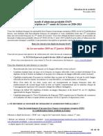 Notice DAP Pour Une Admission en 2020 2021