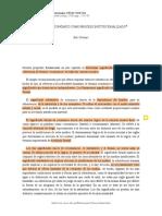 Polanyi - El sistema económico como proceso institucionalizado
