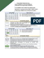 calendário acadêmico 2021 UFAC