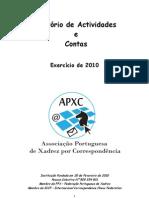 APXC Relatório de Actividades e Contas 2010 final