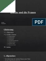 Goethe und die Frauen