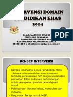 2 - Taklimat Konsep Intervensi Domain Pend Khas 2013