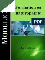 Module 2 Formation en naturopathie - La nutrition