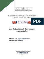 Rapport de stage ICAR 2012