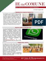 Notizie Dal Comune di Borgomanero del 13-08-2021