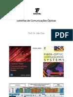 Aula 1 de Comunicações Ópticas - CEFET/RJ