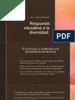 3. Respuesta educativa a la diversidad
