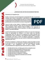Comunicado FeS UGT Andalucia Firma Del Convenio de Seguridad 2009-2012