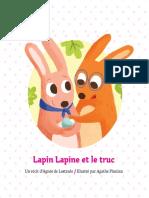 Lapin Lapine et le truc PYP Ouvert d'esprit