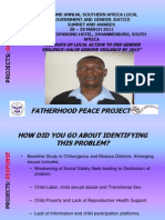 PROJECTS Presentation Response Fatherhood Regis Manjoro