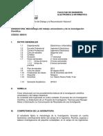 SILABO de Metodologia Del Trabajo Universitario y de La Investigacion Cientifica_2018-2