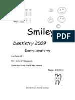 Dental Notation Systems