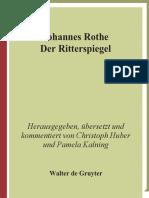 Rothe, Johannes - Der Ritterspiegel-Walter de Gruyter (2009)