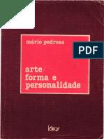 Mario Pedrosa - Arte - Forma e Personalidade - 3 Estudos (Kairos,1979)