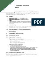 3. Programa de Capacitación