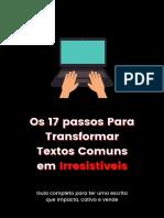 17 passos Textos Irresistíveis