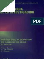 Pineda - Metodologia de La Investigacion Manual Para El Desarrollo de Personal de Salud