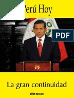 Perú Hoy. La gran continuidad. desco