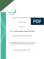 Actividad 5 Analisis de aplicacion de los metodos de evaluación de inventarios en una Institucion de la Salud