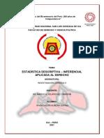Estadística Descriptiva Inferencial Aplicada Al Derecho - Almora