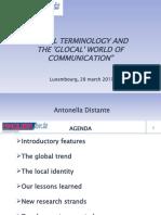 Presentation Antonella Distante