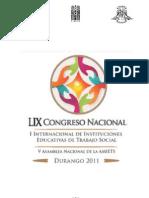 CONVOCATORIA CONGRESO DE TRABAJO SOCIAL DURANGO 2011