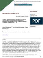 Análise do processo de limpeza, esterilização, armazenamento e frequência de troca de instrumental endodôntico de endodontistas da cidade de Caxias do Sul _ RS