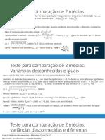Testes de Hipotese 2 amostras - ATUAL