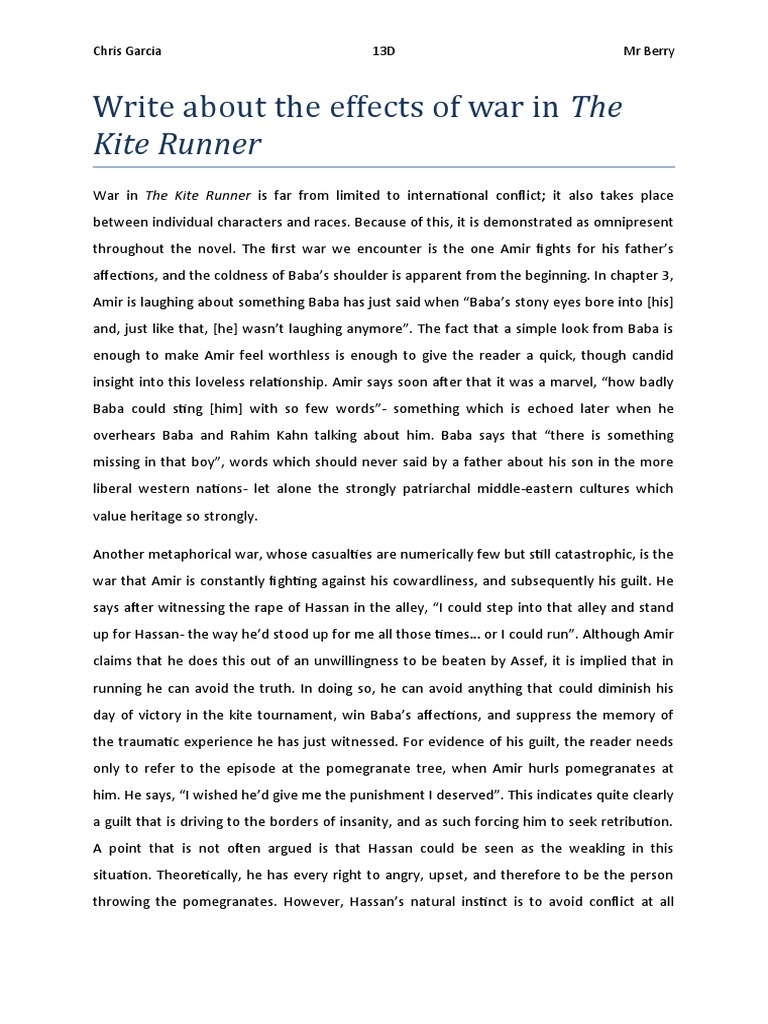 the kite runner critical essay The kite runner essay is an analytical essay critical analysis this essay of kite runner can be critically analyzed by the consideration of complicated plots.
