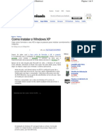 COMO INSTALAR O WINDOWS XP