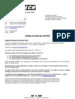Sample Format Letter in Italian Lang