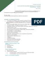 Formation Psychologie-COURS DE PSYCHOLOGIE GÉNÉRALE ET CLINIQUE-a distance